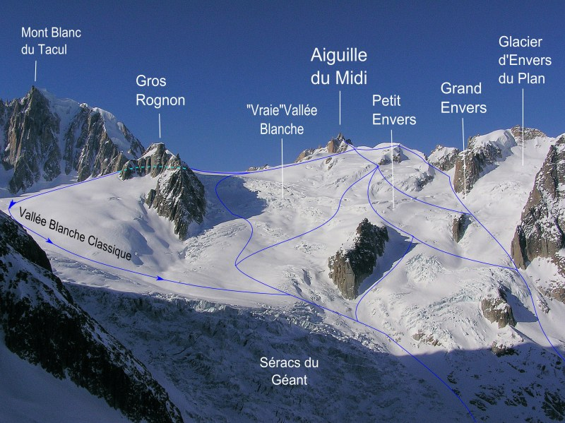 Vallée Blanche Off Piste Ski Routes
